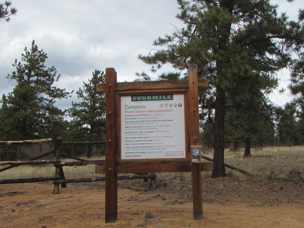 Camping: Fourmile Area: Shields / McGee Loop