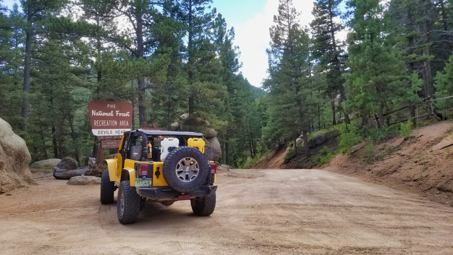Highlight: Devils Head Trailhead and Campground Road